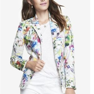 Hp 💕 Express Floral Stretch Cotton Jacket Blazer